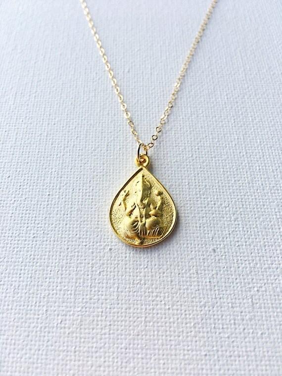 ganesh ganesha elephant god gold necklace ganesha pendant