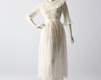 Victorian white lace dress, xs antique dress