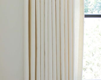 Trend Linen/Cotton 01838T Pleated Drapes (shown in Coconut-comes in many colors)