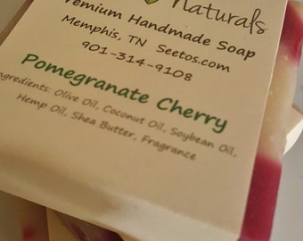 Pomegranate Cherry - Natural Olive Oil -Organic Ingredients
