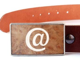 Men's Leather Belt, Women Leather Belt, Brown leather belts, Wooden Belt Buckle, Cool belt buckles, Wood Belt Buckle, Modern belt buckle