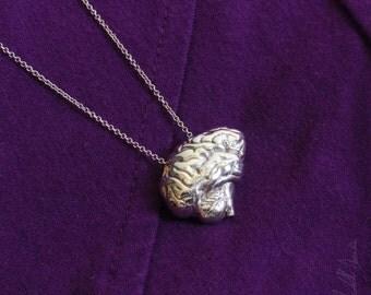 Anatomical Brain Pendant in Silver
