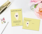 Illinois Save the Date Postcard, State card, Destination Wedding, Location Wedding, Illinois Wedding, Instant Download, Editable Template