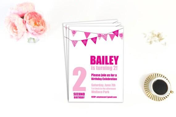 Printable Birthday Party Invitation, Second Birthday, 2nd Birthday, Invitation Template, Printable Invitation, Carnival Invitation, DIY