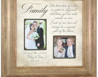 Personalized Picture Frame, Parents of the Bride Gift, Parents of the Groom wedding gift, parents picture frame, FAMILY wedding gift, 16x16