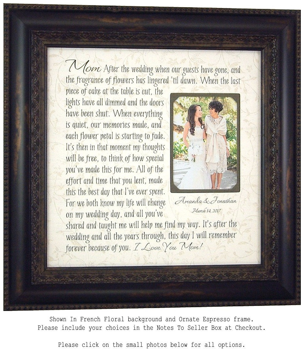 Wedding Gift Parents: Wedding Gift For Parents Mother Of The Bride Gift Parents
