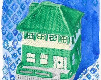Yarn House - Watercolor