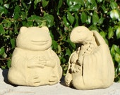 SMALL MEDITATING ANIMALS Choose your Styles. Buy in Bulk & Save B.I.G. Solid Stone Indoor Outdoor Cat Dog Frog Turtle Buddha Sculpture (O)