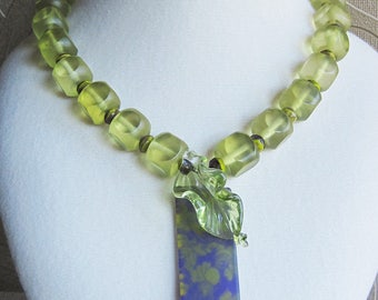 Spring Green and Purple Swirls - light green and shades of purple springtime colors