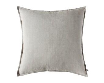 Linen decorative pillow cover, Natural linen pillows, Flax grey linen cushion cover, Linen accent pillow cover, Linen throw pillow covers