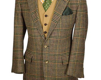 Preppy 40S Gentry Windowpane Tweed Sportcoat