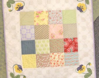 Tea in the Garden kit includes binding and pattern...designed and pieced by Mickey Zimmer