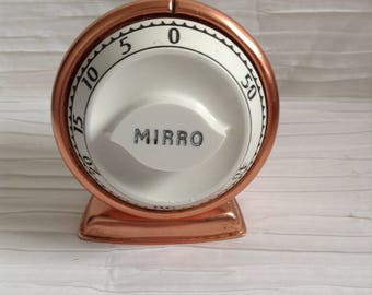 Copper Mirro Kitchen Timer.  1960 kitsch, Mid Century Modern,Eames era. Vintage.  Made in USA