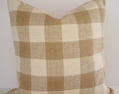 Lee Jofa Pillow Brown Check Pillow Cover  Brown Buffalo Check Brown Gingham Check Decorative Pillow Cover BOTH SIDES