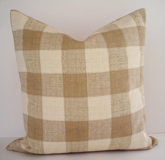 Brown Check Throw Pillows : Brown Check Pillow Cover Lee Jofa Pillow Brown Buffalo Check