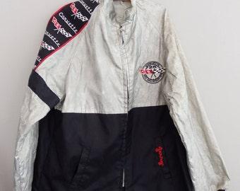 vintage 70s original CORVETTE 25TH Anniversary  Racing Jacket 1953-1978 Large