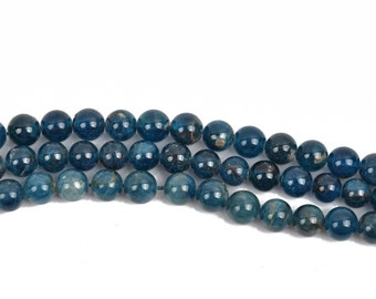 8mm ROUND BALL APATITE Gemstone Beads, full strand, 50 beads, gap0002