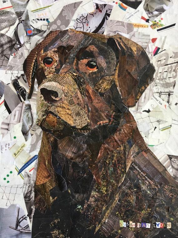 Chocolate Labrador Retriever Collage