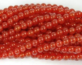 Carnelian Beads 6mm -14.5 inch strand