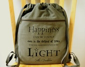 Harry Potter Quote Backpack, Gym Bag, Canvas Laptop Bag