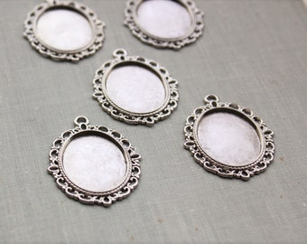25x18mm Setting Pendants in Antique Silver