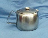Vintage Old Hall Teapot - Connaught - Satin Finish Stainless Steel - Made in England 2 pint