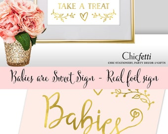 Babies are Sweet Sign Baby Shower Dessert Table Sign Babies are Sweet Take a Treat Baby Shower Sign Baby Shower Dessert Buffet Sign