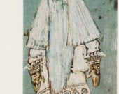 Vintage N. Roerich (Design for Father Frost's dress in A. N. Ostrovsky's Snow Maiden) Print - 1980s, Aurora Art Publishers