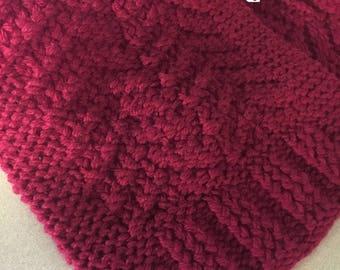 Loom Knit Plum Regal Scarf Pattern - INSTANT DOWNLOAD