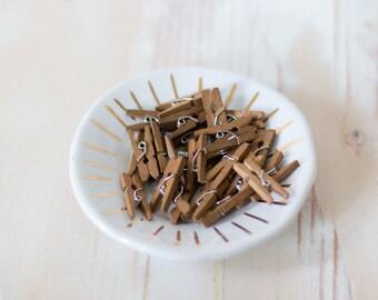 Rustic Brown Mini Clothespins - 25 pc
