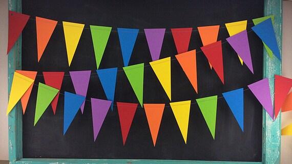 Rainbows 10ft. Pennant: Rainbow Garland, 1st Birthday Girl, 1st Birthday Boy, Photo Backdrop, Art Birthday Party, Rainbow Birthday Party