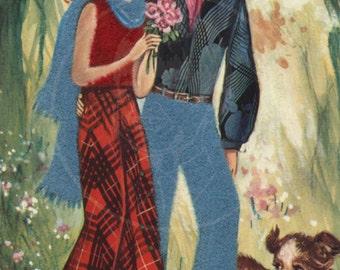 Groovy Art (001) - 10x15 Giclée Canvas Print of a Vintage Postcard