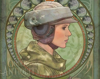 Princess Leia Organa General Carrie Fisher Star Wars Return of the Jedi Original Illustration Portrait Poster Print - 4 Sizes Available