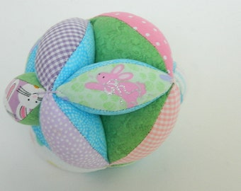 Clutch Grab Ball - Easter Basket Gift for Child - Baby Shower Gift - First Birthday - Sectioned Toy - Amish Puzzle Ball - Handmade Soft Ball