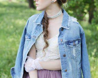 The Daydream in Blue bridal flower crown