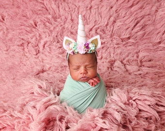 Newborn and up Unicorn headband, Unicorn Horn Headband, baby headband, unicorn baby headband, spring headband, easter headband