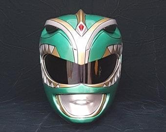 Green Ranger Helmet kit based on a 3D model.
