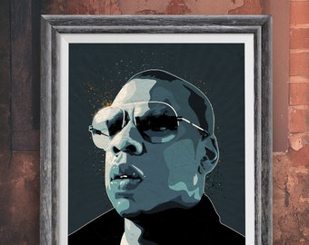 Jay Z Pop Art, art print - music memorabilia - Giclee, Art print home wall decor