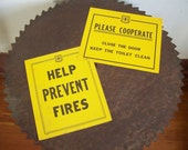 Vintage U S Forest Service poster PLEASE COOPERATE  Close the Door Keep the Toilet Clean government issue 1963