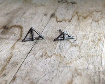 TAIKA Earrings choose combination, Sterling Silver Oxidized Dark Recycled Silver Studs