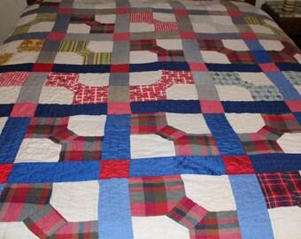 Vintage handmade bowtie quilt