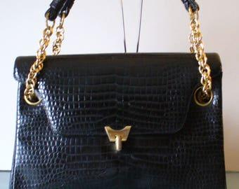 Koret Faux Alligator Leather Shoulder Bag