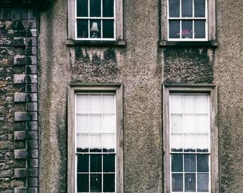 Ireland Photograph, Architecture Art, Window Photo, Kilkenny Ireland, Urban Photograph, Rustic Decor, City Art Print, Apartment Photograph