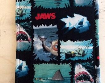 JAWS Trivet Reversible Large Rectangle Colorful Shark Motif  Hot Pad Hot Plate Teacher Gift Hostess Gift Table Protector Stocking Stuffer