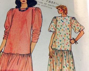 Vogue drop waist dress pattern
