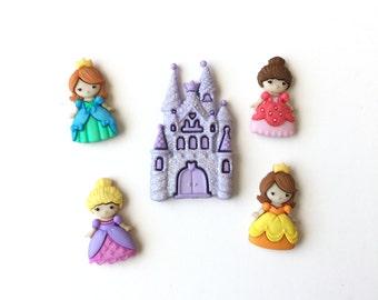 Princess Magnets, Fairy Castle Magnets, Fridge Magnets, Push Pins, Neodynium Magnets