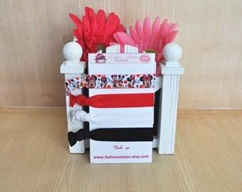 Disney Mickey and Minnie  Elastic Hair Ties~~~ Birthday Favors~~~Baby Shower~~~Hair Tie Bracelet