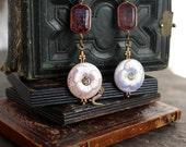 Antique Czech pink rhines...