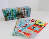 "Unpaper Towels Cloth Napkins 12 Flannel Tissues  Cleaning Cloths - Choose your size (8""x 8"" or 10"" x 12"")  - 1 PLY - BOY PRINTS"