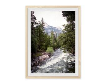"Landscape Photography, Mountain Print, Yosemite, Large Wall Art, Film Photography, ""Yosemite River"""